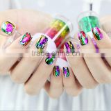 12pcs/set Nail Art Transfer Foil Sticker Paper DIY Beauty Polish Designs Stylish Nail Decoration Tools Body Art 44colors To Chos