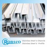 sus 304 ,310s and other Standard U Channel stainless Steel Sizes