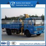 3.2 ton folding arm crane truck, knuckle boom truck mounted crane with Dongfeng (DFAC) for hot sale