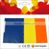 A4 paper cardboard file folder with lid and elastic string folder 3 valves file clear book