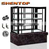 SHENTOP STPA-K12B Compressor showcase cake display marble bakery showcase cake display