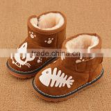 01 Hot sale winter warm wool soft snow baby boots baby shoes 2015