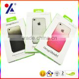 book shaped iphone 5 case packaging box with hanger and window inside, magnet closure