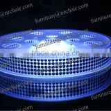 China factory acrylic led light up glow lazy susan dining turntable