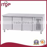 air-cooled type 3doors refrigerated pizza worktable