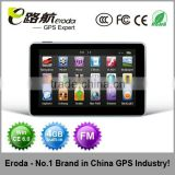 promotional brand 5 Inch Car GPS Navigation with Bluetooth,DVB-T,ISDB-T optional,with FM, Window CE6.0 flash memory 4GB