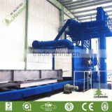 CE Certification H Beam Shot Blasting Machine / Simple Structural Steel Parts Shot Blasting