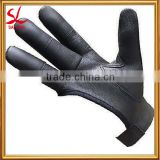 Archery Finger Protector Shoot Gloves Arrow Bow Hunting Archers Leather Shooting 4 Finger Glove Black or Yellow