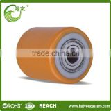 cast iron industrial roller wheel made in china and airport trolley wheel roller 6 wheel