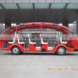 Hot sale 18-23 passengers new luxury electric bus 48V6.3KW with low price for tourist in china for sale