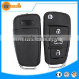 ABS 3 button remote car keys with Round logo and blade for Audi a6 a4 b5 q5 key remote key blank fob