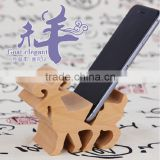 OCASE 12 Chinese Zodiac Signs Phone Holder Natural Beech Wood Tablet for iPad Stand