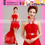 OEM Eegant Top Quality Sleeveless Chiffon Cheap Red Party Dresses For Women Latest Design Bead Cheap Red Party Dresses For Wom