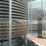 chicken freezing machine ,bread hamburger toast spiral cooling tower(manufacturer)
