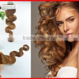 Double Drawn Pu Hair Skin Weft Hair Extensions, Virgin Remy Human Cabelo, Eurasian Remy Tape Hair Extension