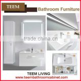 2016 hot sales new design concise french style modern Multi layer solid wood home furniture Sanitary bathroom mirror cabinet
