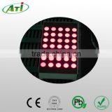 "2.3"" 8x8 round dot 5mm rgb dot matrix led display, promotional item with 3 years guarantee"