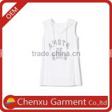 custom gym singlets stringer printing sleeveless hoodie good quality custom white hoodies lightweight cotton hoodies