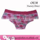 Ladies underwear sexy bra and panty new design Italian lace sexy lingerie with Roses pattern underwear of women