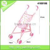 Loongon pink baby pram for doll metal structure stroller toys