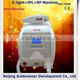 Portable 2013 Exporter Beauty Salon Equipment Diode Armpit / Back Hair Removal Laser E-light+IPL+RF Machine 2013 Scanner Laser