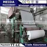Automatic Waste Paper As Raw Materials toilet paper manufacturing machine With High Quality