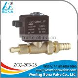 Tube with lock 8mmx6.5mm brass steam welding machine DC 12V 24V electric valve ZCQ-20B-28