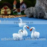 cy309 Artificial Three-dimensional whale DIY Resin swan crafts garden moss Micro View decorations