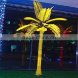 Artificial waterproof lighted indoor outdoor high quality LED palm tree festival decorations