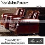 HD196 Modern living room furniture single seat chairs vintage leather armchair sofa leather cafe coffee shop sofa chair