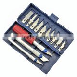 13pcs/set Hobby Knife Set Gravar Burin Carving Tools Set with 3 Handles Sculpture cutter utility knife