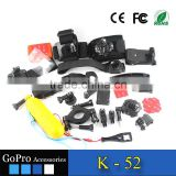 2016 hot selling cheap factory price bundle of accessories products kit used for gopros accessories sports DV action camera kits