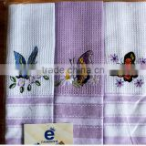 hotel restaurant victualing house , dining room 100% cotton waffle embroidery dish towels