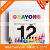 good quality 12pcs color crayons for kids
