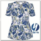 nurse uniform junior fit printed scrub for nurse