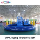 commercial giant inflatable elephant slide with pool, land amusement park