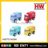 9 cm mini diecast pull back container vehicle