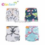 Elinfant bamboo cotton one size baby diaper nappy leak guard diapers baby AIO cloth diaper