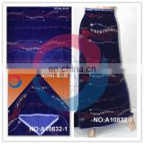 Fashion african velvet fabric with beads