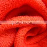 Worsted woven scarf 100% merino wool fabric
