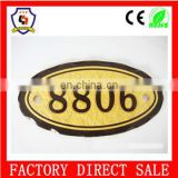 bulk cheap wholesale serial number plate 8806 for hotel/blank number plate/HH-serial number-54
