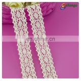 Guangzhou garment accessories colorful 100% cotton bobbin lace