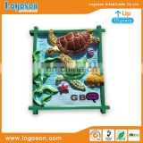 Ocean style resin magnet fish sea turtle seaweed starfish design resin 3d fridge magnets