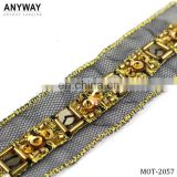 Guangzhou gold decorative fabric trim for apparel