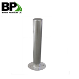 steel road bollards for public garden safety