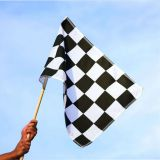 Factory Wholesale 3x5 Ft Black White Custom Checkered Race Hand Waving Flag