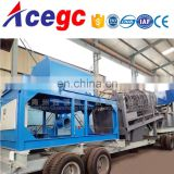 Big capacity 300tph mobile trommel screen gold centrifugal separating machine