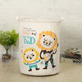 household cloth canvas collapsible laundry basket animal cartoon laundry basket children printed baby clothing storage basket