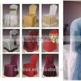 high quality decorative 5 star banquet chair cover with ribbon wedding chair cover