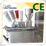 soft tube lip gloss tubing packaging filling and sealing machine